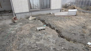 地盤が沈下して傾いた家を直すアンダーピーニング工法